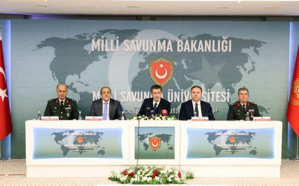 M.S.B. Nurettin Canikli, bu yıl askeri okullara öğrenci alımında ilk kez uygulanacak sınav sistemine yönelik M.S.B.'nda basın toplantısı düzenledi