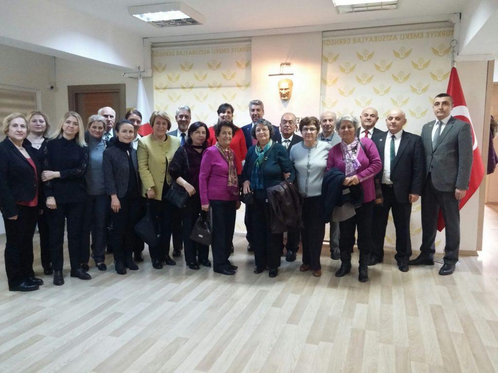 TEMAD eski Genel Başkanı Mustafa EROL ve beraberinde meslektaşlarımızın eşleri Genel Merkezimizi ziyaret ettiler
