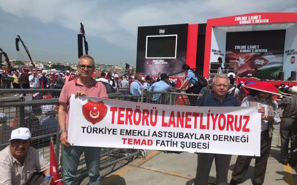 TEMAD 'ZULME LANET, KUDÜS'E DESTEK' MİTİNGİNE KATILDI