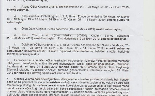 2019 YILI ÖZEL VE YEREL EĞT.MRK.LERİNDEN DEVRE/GRUPLAR HALİNDE YARARLANMA ESASLARI